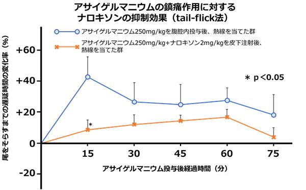酢酸writhing法による浅井ゲルマニウムの鎮痛作用